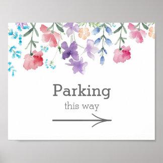 Póster Muestra bonita del estacionamiento del boda del