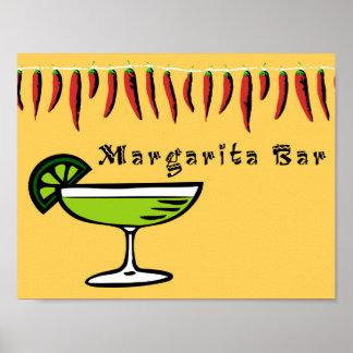 Póster Muestra de la barra de Margarita