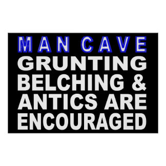 Póster Muestra de la cueva del hombre