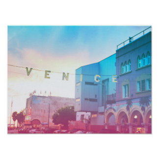 Póster Muestra de la playa de Venecia