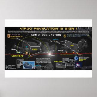 Póster Muestra de la revelación 12 - cometa 67p 1