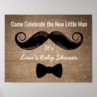 Póster Muestra del bigote y del fiesta del arco con el