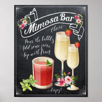 Póster Muestra del boda de la barra del Mimosa