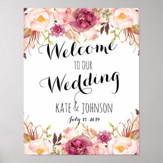 Póster Muestra del boda, recepción, ducha, poster,