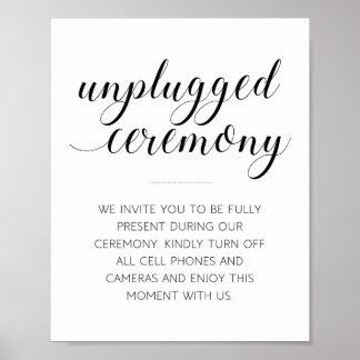 Póster Muestra desenchufada de la ceremonia de boda -