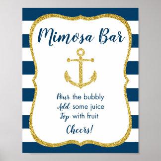 Póster Muestra nupcial náutica de la barra del Mimosa de