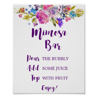 Póster Muestra púrpura de la barra del Mimosa del jardín