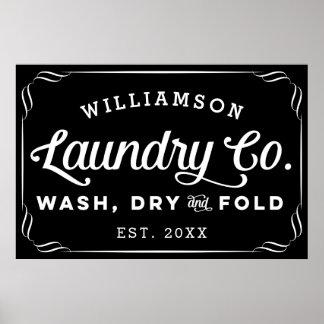 Póster Muestra seca personalizada del doblez del lavado