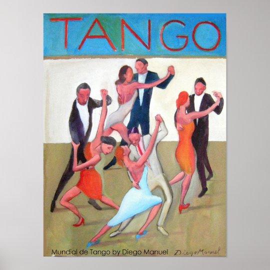 Póster Mundial de tango