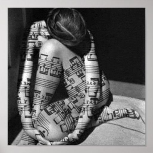 Póster Musica-artista,blanco y negro