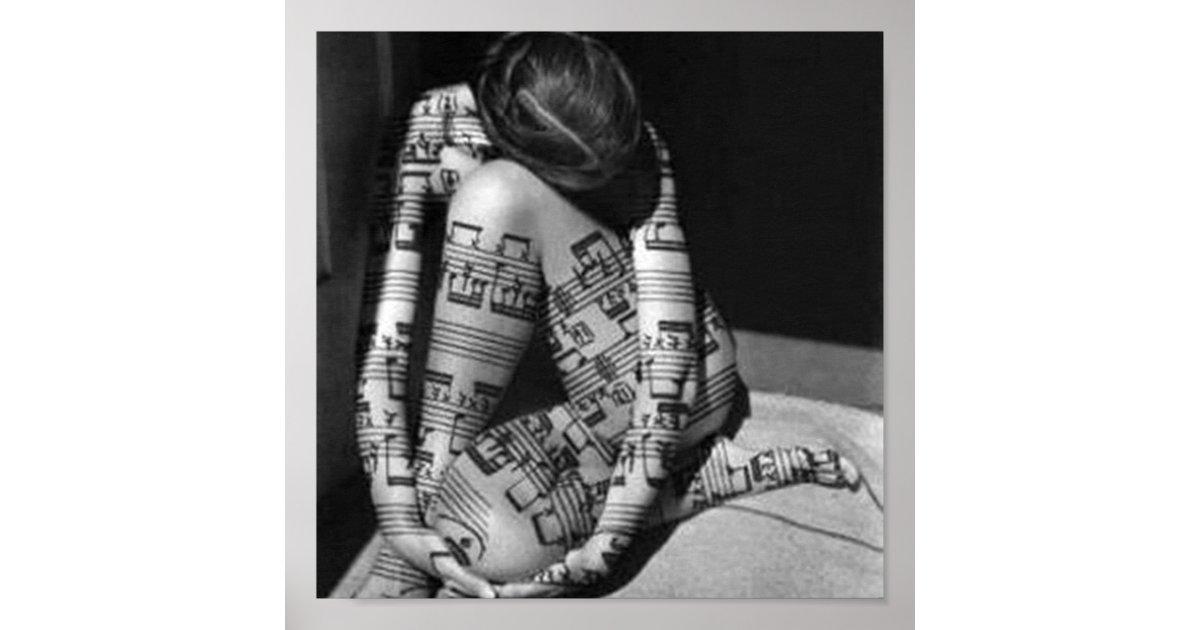 Póster Musica-artista,blanco y negro | Zazzle.es