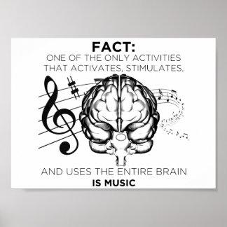Póster Música para la mente