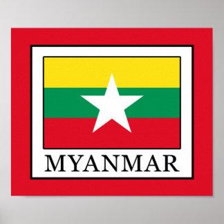 Póster Myanmar