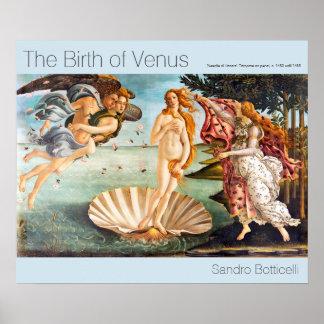 Póster Nacimiento restaurada y de Recolored Botticelli de
