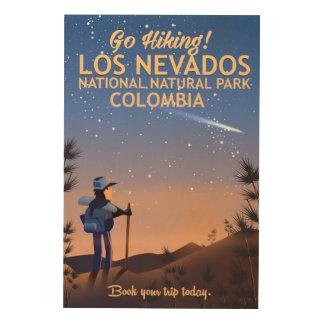 Poster nacional del viaje del parque natural del impresión en madera