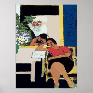 Póster Nancy en la célula, estilo de Matisse