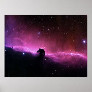 Póster NASA de Barnard 33 de la nebulosa de Horsehead