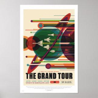 Póster NASA - El viaje magnífico - poster retro del viaje