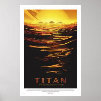 Póster NASA - Poster retro del viaje del viaje del titán
