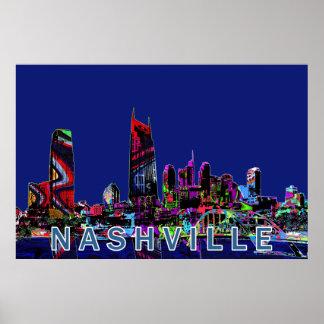 Póster Nashville en pintada