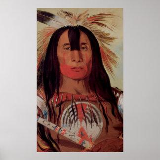 Poster nativo 1832 del arte de la tribu de la sang