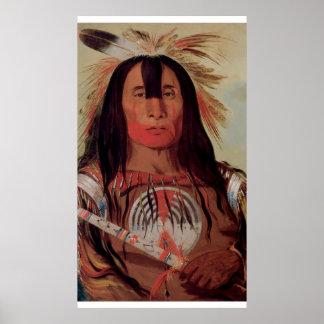 Poster nativo de la tribu de la sangre del jefe in