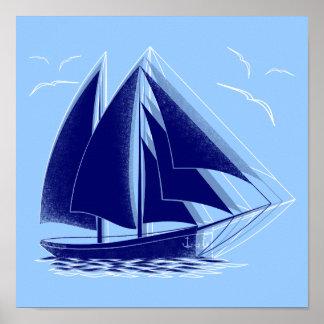 Póster Navegación rápida náutica