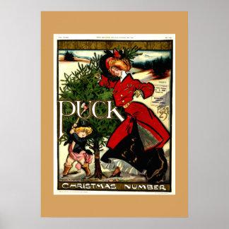 Póster Navidad 1900 de la revista del duende malicioso