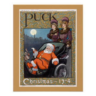 Póster Navidad 1904 de la portada de revista del duende