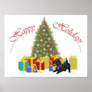 Póster Navidad de Terrier del escocés