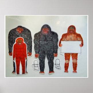 Póster Neanderthal y 3 amigos,