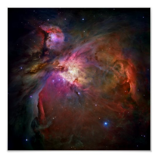 Póster Nebulosa de Orión (telescopio de Hubble)