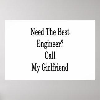 Póster Necesite la mejor llamada del ingeniero mi novia