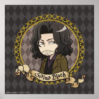 Póster Negro de Sirius del animado
