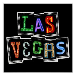 Póster Neón retro de Las Vegas