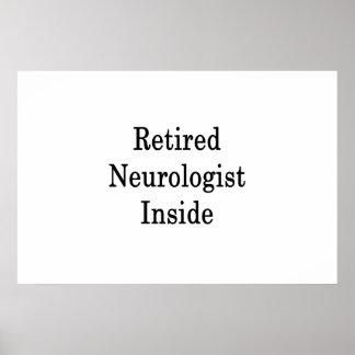 Póster Neurólogo jubilado dentro