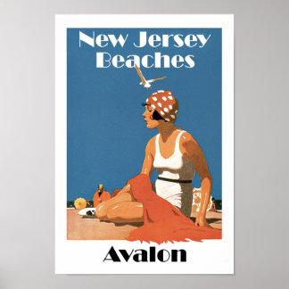 Póster New Jersey vara el ~ Avalon