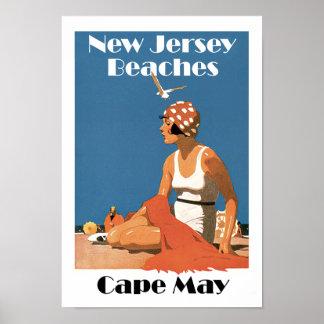 Póster New Jersey vara el ~ Cape May