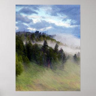 Póster Niebla de la mañana