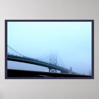 Póster Niebla sobre el puente de Ben Franklin