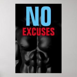 Póster Ninguna aptitud Bodybuilding de las excusas de