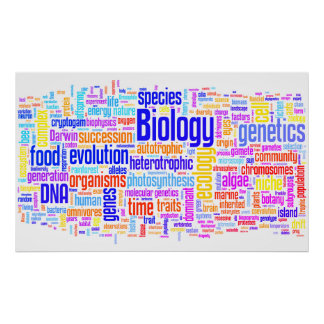 Póster No. 17 de Wordle de la biología