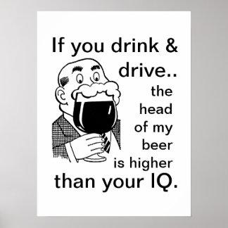 Póster No beba y no conduzca