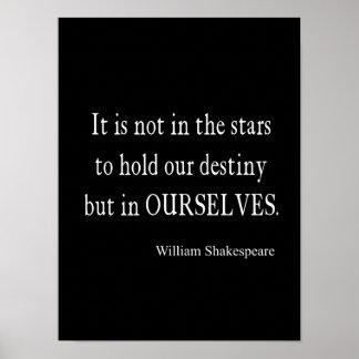 Póster No destino pero nosotros mismos de las estrellas