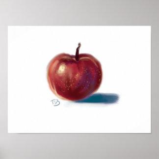 Póster ¡No es una manzana! No real de todos modos