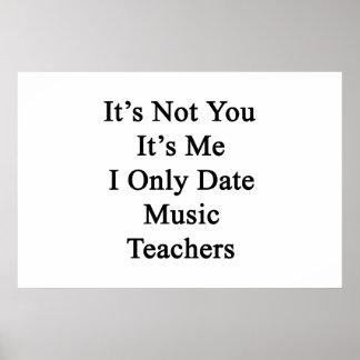 Póster No es usted que es yo los profesores de música de