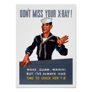 Póster No hace Srta. Your X-ray -- WW2