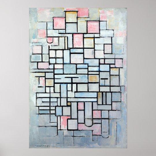 Póster No. IV de la composición de Piet Mondriaan