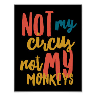 "Póster No mi circo 11"" x 8,5"", papel de poster (mate)"