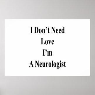 Póster No necesito amor que soy neurólogo